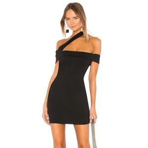 Linda Asymmetric Bodycon Dress  superdown